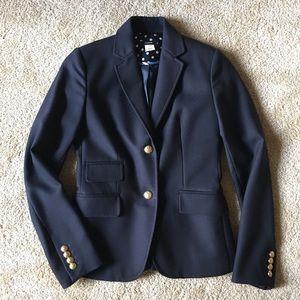 J.Crew Women's Navy Wool Fitted Blazer Size 2
